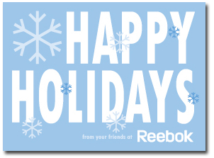 Reebok Holiday Card 2